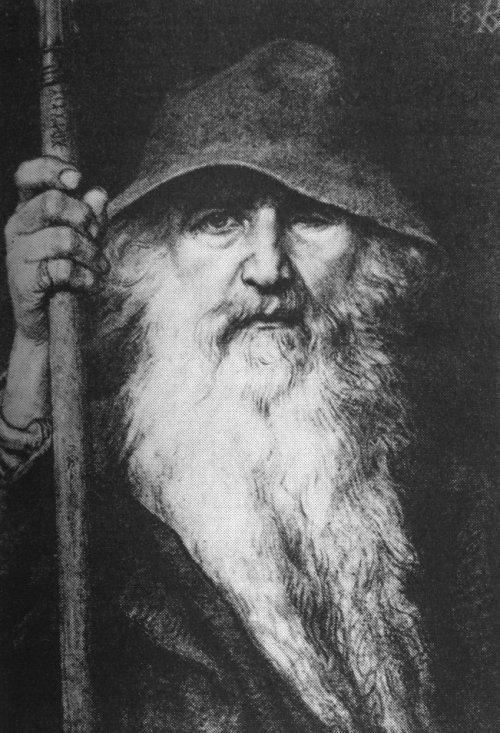Georg von Rosen: Oden som vandringsman, 1886 (Odin, the Wanderer)